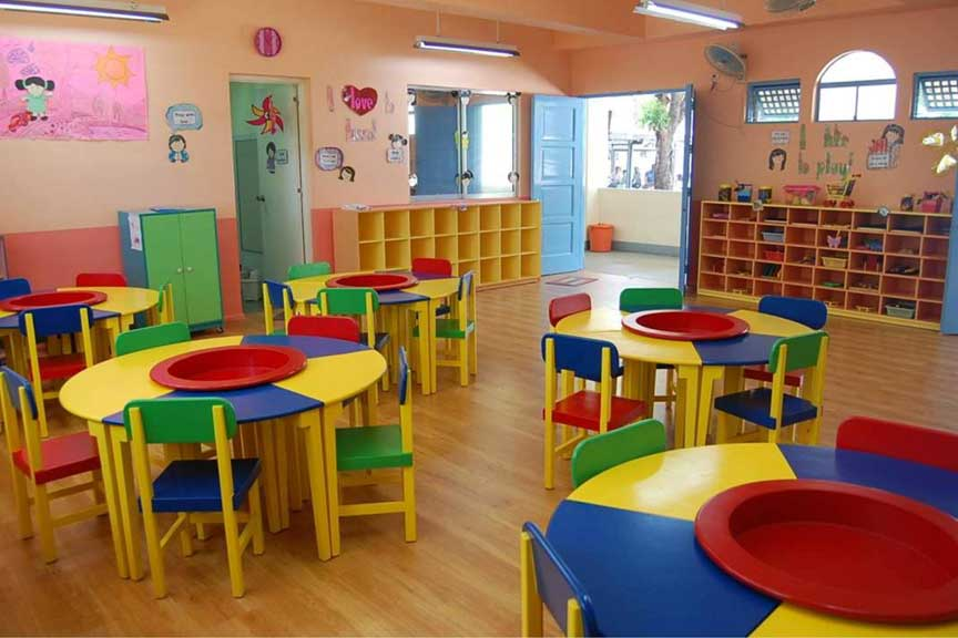 Classroom Furniture For Kindergarten ~ Kindergarten facilities st theresa college quezon city